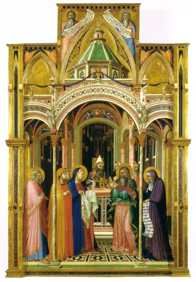 ambrogio lorenzetti 21 presentation in the temple