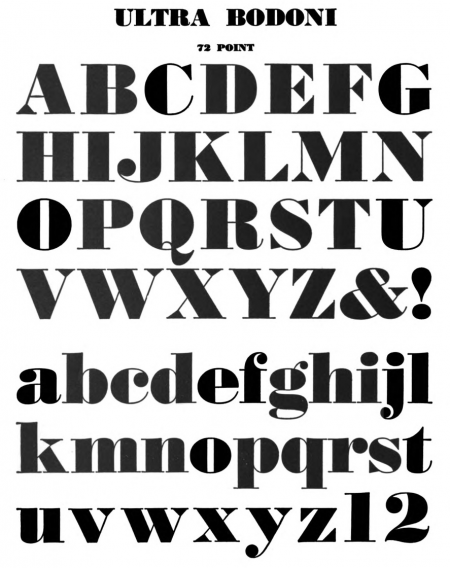 WilliamLongyear 1935 UltraBodoni